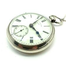 A Silver Open Faced Fusee 1895 Pocket Watch by Sam Sloane of Armagh