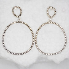 kenneth cole jewelry antique silver plated drop dangle stud earrings cut crystal