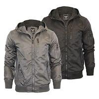 Mens Hooded Jacket Brave Soul Slavic Zip Up MA1 Summer Bomber Coat