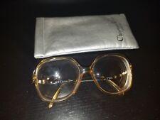 VINTAGE Christian Dior Eyeglasses Style 2271 Rhinestones Rx Glasses Germany+Case