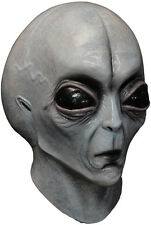 AREA 51 ALIEN LATEX SCARY HEAD MASK HALLOWEEN HORROR FUN