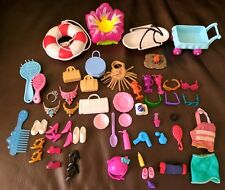 Barbie Accessories MIX LOT Dishes SHOES Purses Life Preserver Brushes Hair Dryer