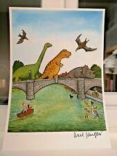 Axel Scheffler Dinosaurs on Richmond Bridge SIGNED NUMBERED Ltd Ed Giclee print