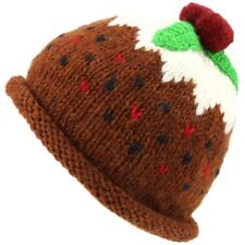 Christmas Pudding Hat Wool Knit Knitted Xmas LoudElephant War Winter Men Ladies