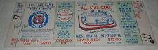 1971 All Star Game Detroit Mega Ticket SIGNED AUTOGRAPHED Sparky Freehan Lolich