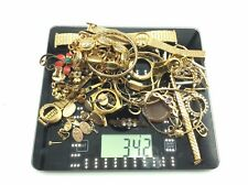 Job Lot Of ROLLED GOLD PLATE/GOLD PLATE Jewellery For Scrap Gold Recovery OnlyL1