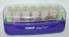 Conair EASY START 20 Mulit-sized Hot Curlers Rollers w Clips Pageant Dance