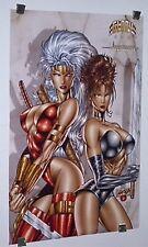 1996 Glory Avengelyne sexy girls hot women comic book artwork poster:Liefeld art