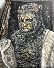 CURSE OF THE WEREWOLF OLIVER REED HAMMER HORROR POP ART PAINTING 16X20 HALLOWEEN