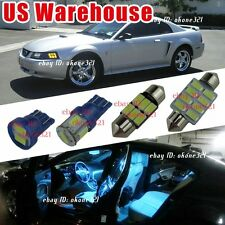 14-pc Aqua Ice Blue LED Lights Interior Map Package Kit For 94-04 Ford Mustang