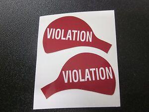 """Duncan Parking Meter Original High Quality Decals """"VIOLATION"""" Set Front/back"""