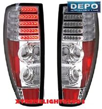 CHEVY GMC COLORADO CANYON PICKUP 2004-2012 CHROME LED TAILLIGHTS TAIL LIGHT PAIR