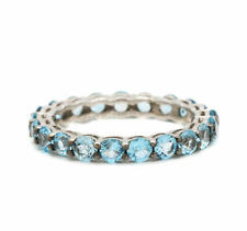 Natural Blue Topaz Gemstone 925 Sterling Silver Ring Jewelry 7