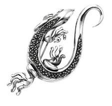 Sterling Silver & Marcasite Salamander Pin - MPN102