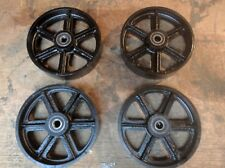"Industrial 8""/200mm cast iron caster wheels for industrial furniture. Set of 4."
