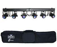 CHAUVET 6SPOT 6 Head RGB LED DJ Dance Effect DMX Stage Spot Light System + Bag