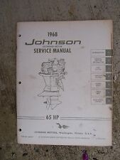 1968 Johnson Outboard Motor 65 HP Service Manual Boat LOTS MORE IN OUR STORE  V