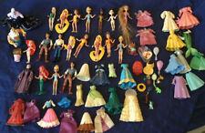 Polly Pocket Dolls Disney Princess Clothes Dresses 👗 Ariel Snow White   Tiana