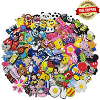 Shoes Charms PVC Different Shape Lot Mixed For Croc Jibbitz Shoe Wristband 100PC