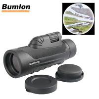 10X42 Monocular Scope Dual Focus Waterproof Telescope Spyglass for Hunting