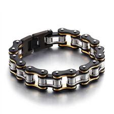 """10mm alto Acero inoxidable pulido joyas Cadena Pulsera de enlace de cordón de hombre 8.66/"""""""
