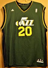 UTAH JAZZ GORDON HAYWARD #20  GREEN Adidas Size 2XL Basketball NBA JERSEY