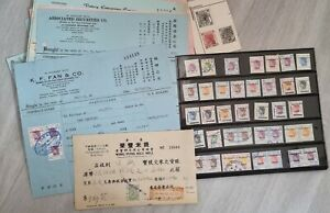 Collection of China Hong Kong Contract Note Stamp Duty on Receipts Orders etc