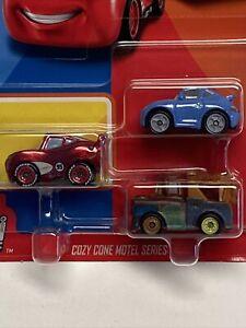 Disney Pixar Cars - Metal Mini Racers - Cozy Cone Motel Series - 3 Car Pack