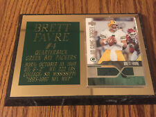 UD Game Authentic Brett Favre Game Worn Jersey Deluxe Plaque Green Bay Packers
