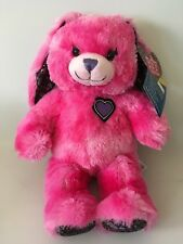 """Build A Bear BFF Best Friends Forever Pink Hearts Bunny Rabbit 17"""" Stuffed NEW"""