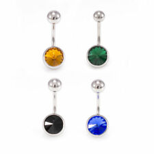 Belly Button Rings Navel Piercing With Jewels 14 gauge Set Of 4