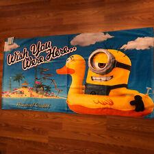 NWT Despicable Me Kids Minions Beach Towel 60x30 Universal Studios Disney