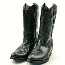 Laredo Western Boots Mens Paris Trucker Leather Lined Black 4240 Size 9.5 EW