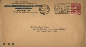 1923 San Francisco California (CA) Envelope Californians Inc. Edw. Parkhill