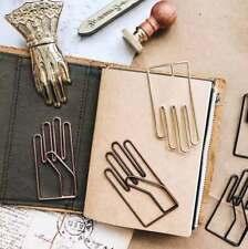 Retro Hand Shape Metal Bookmark Paper Clip Book Holder Memo Clip Stationery