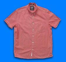 H&M... Medium... uomo S/S Aderente Colletto Abbottonato Camicia... M.. L.O.G.G. Estate Top