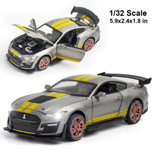 Ford Mustang Shelby GT500 1:32 Diescast Model Car Toy Sound&Light Kids Gift Toy