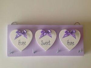 Key Holder, Home Sweet Home, lilac