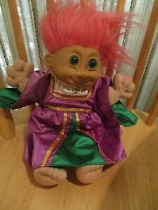 """14"""" WIZARD PINK HAIR TROLL DOLL BY RUSS (FOR AGES 3+) #259"""