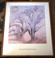 Cottonwoods East IV 1954 Georgia O'Keeffe Museum Vintage Poster Rare (FRAMED)