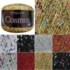 King Cole 25g Metallic Cosmos Glitter Yarn Knitting Wool Sparkle Sequin
