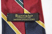 Hart Schaffner & Marx Mens Silk Tie green yellow orange red blue diagonal