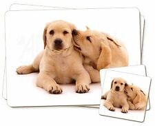 Yellow Labrador Dogs Twin 2x Placemats+2x Coasters Set in Gift Box, AD-L51PC