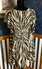 NWT Signature By Robbie Bee Women's dress Size 12 brown sequined embellished