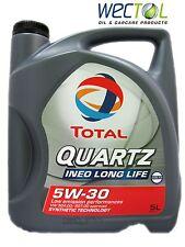 TOTAL Quartz INEO LONG LIFE 5W-30 5 Liter Longlife 5W30 + Ölwechselanhänger