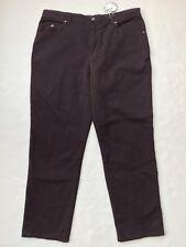 NWT Womens GLORIA VANDERBILT Brown Vamp AMANDA Jeans Denim 16 Stretch Short