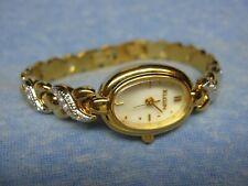 Women's ELGIN Gold Gemmed Watch w/ New Battery