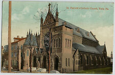 York PA St. Patrick's Catholic Church Vintage Postcard