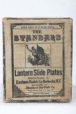 Antique Standard Glass Lantern Slide Dry Plates Box, Kodak Co. film photo camera