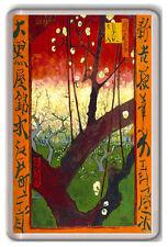 VINCENT VAN GOGH - FLOWERING PLUM TREE 1887 FRIDGE MAGNET IMAN NEVERA